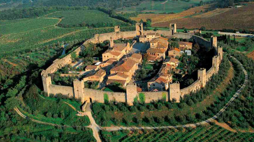 Monteriggioni and the missing lake
