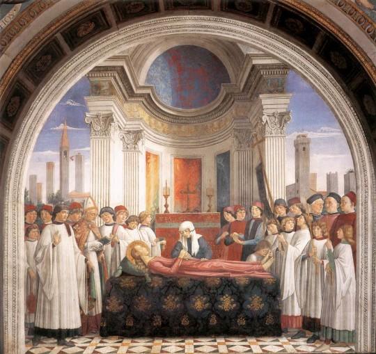 The holy figure santa fina of san gimignano