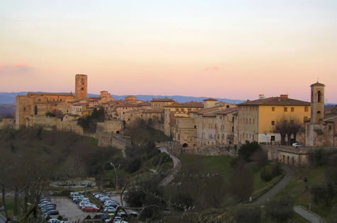 The historical centres of colle val d'elsa and of san gimignano